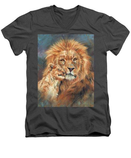 Lion Love Men's V-Neck T-Shirt