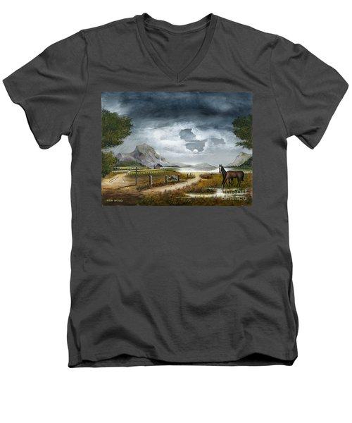 Loch Lomand Men's V-Neck T-Shirt
