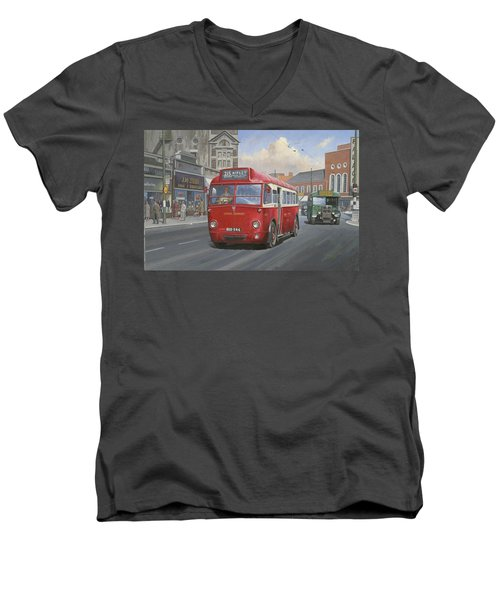 London Transport Q Type. Men's V-Neck T-Shirt by Mike  Jeffries