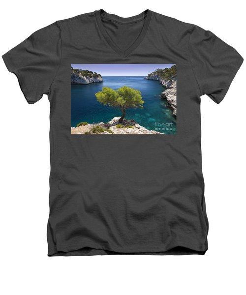 Lone Pine Tree Men's V-Neck T-Shirt