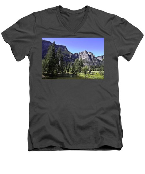 1 Lone Rafter Men's V-Neck T-Shirt by Brian Williamson