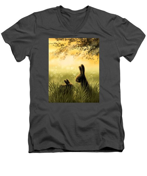 Love Men's V-Neck T-Shirt by Veronica Minozzi