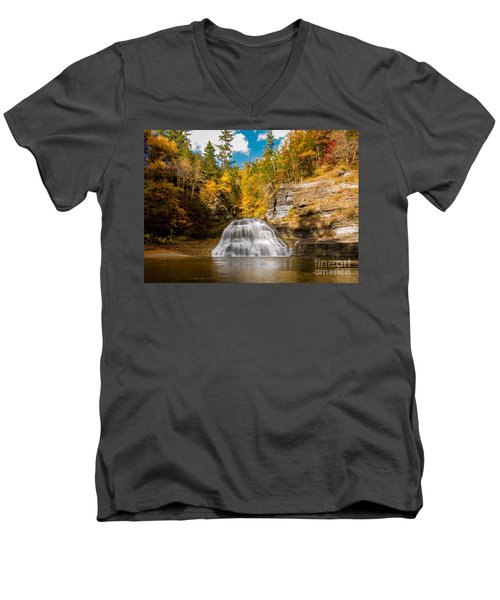 Lower Treman Falls Men's V-Neck T-Shirt