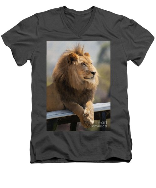 Majestic Lion Men's V-Neck T-Shirt