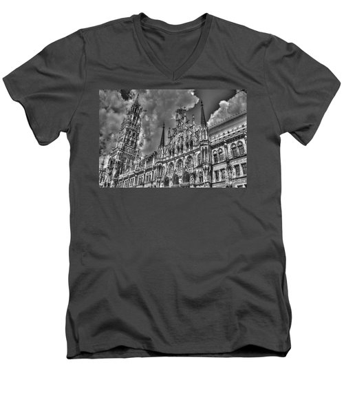 Marienplatz In Munich Men's V-Neck T-Shirt