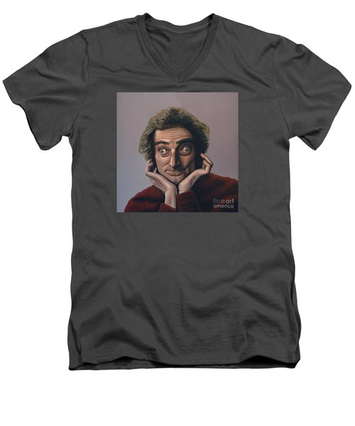 Marty Feldman Men's V-Neck T-Shirt by Paul Meijering