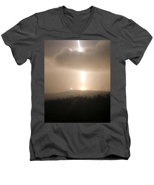 Men's V-Neck T-Shirt featuring the photograph Minuteman IIi Missile Test by Science Source