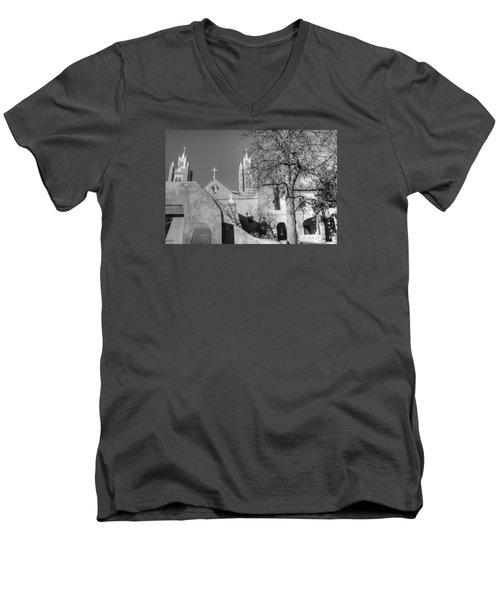 Mission In Black And White Men's V-Neck T-Shirt