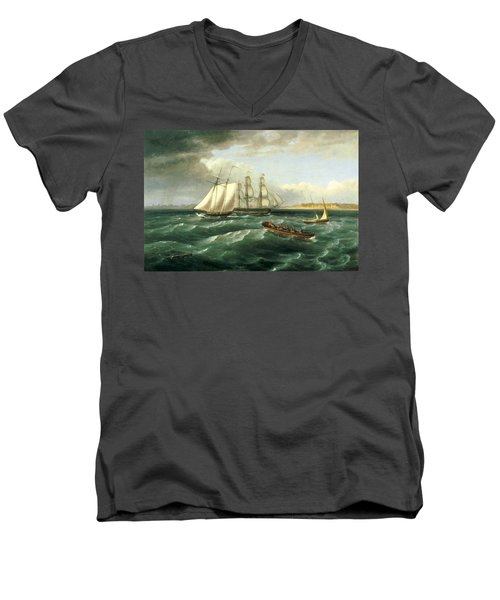 Mouth Of The Delaware Men's V-Neck T-Shirt