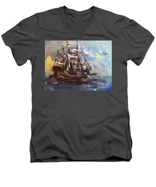 My Ship Men's V-Neck T-Shirt
