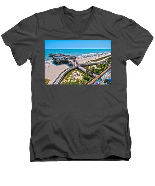 Men's V-Neck T-Shirt featuring the photograph Myrtle Beach South Carolina by Alex Grichenko