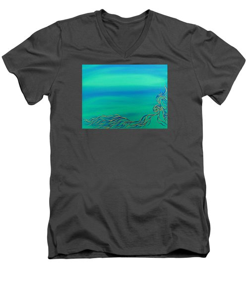 Men's V-Neck T-Shirt featuring the painting Nerissa by Robert Nickologianis