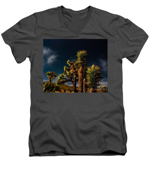 Night Desert Men's V-Neck T-Shirt