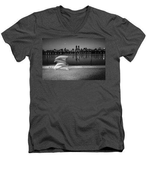Night Jogger Central Park Men's V-Neck T-Shirt