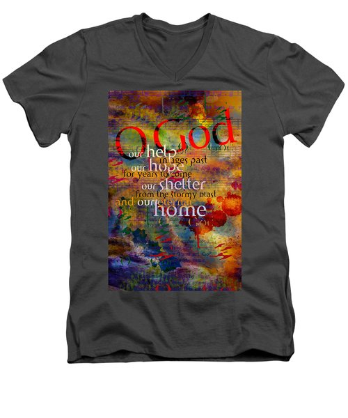 O God Our Help Men's V-Neck T-Shirt by Chuck Mountain