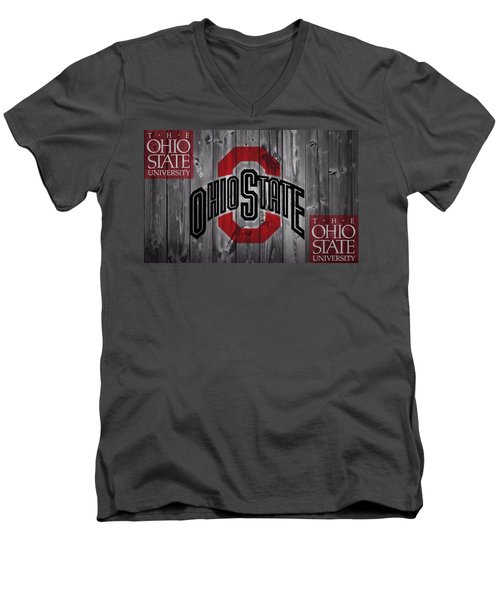 Ohio State Buckeyes Men's V-Neck T-Shirt by Dan Sproul