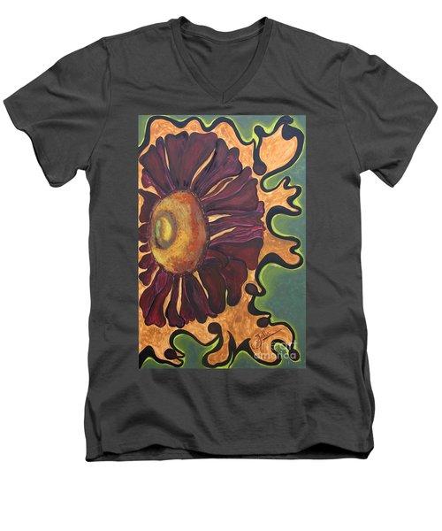 Old Fashion Flower Men's V-Neck T-Shirt by Jolanta Anna Karolska