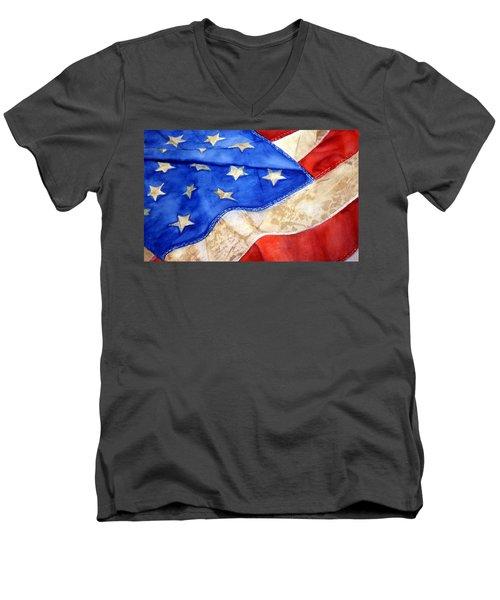 Old Glory Men's V-Neck T-Shirt