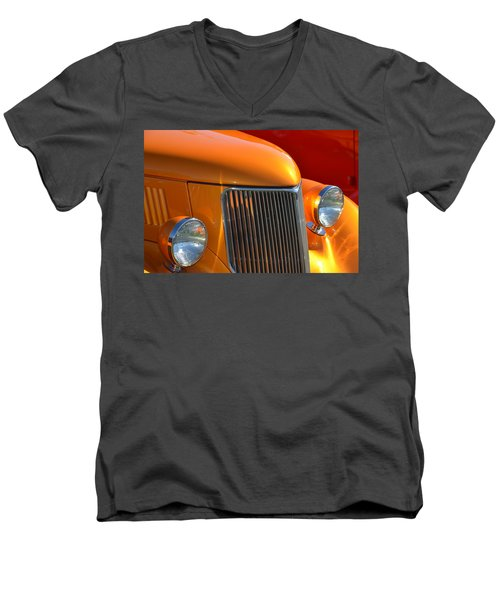 Orange Hotrod Men's V-Neck T-Shirt