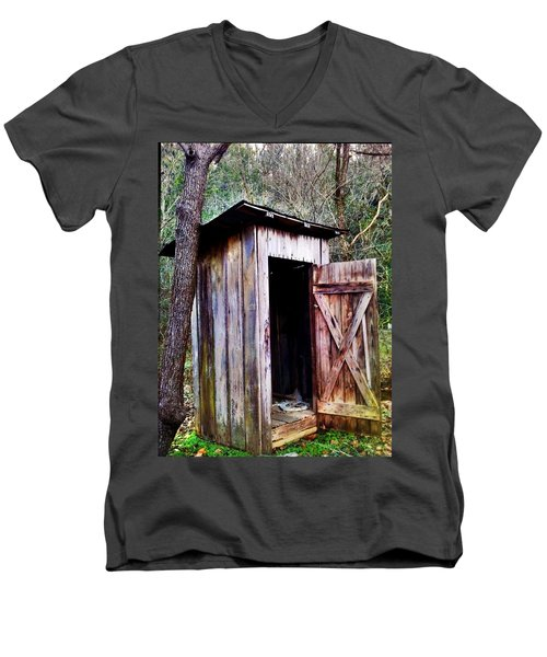 Outhouse Men's V-Neck T-Shirt by Janice Spivey