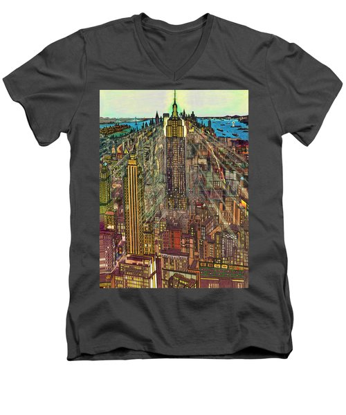 New York Mid Manhattan 1971 Men's V-Neck T-Shirt