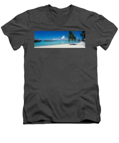 Palm Tree On The Beach, Moana Beach Men's V-Neck T-Shirt