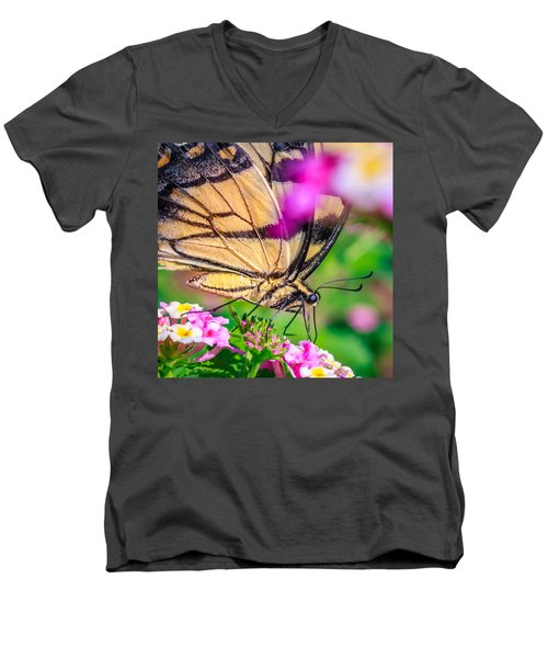 Men's V-Neck T-Shirt featuring the photograph Papilio Glaucus by Rob Sellers