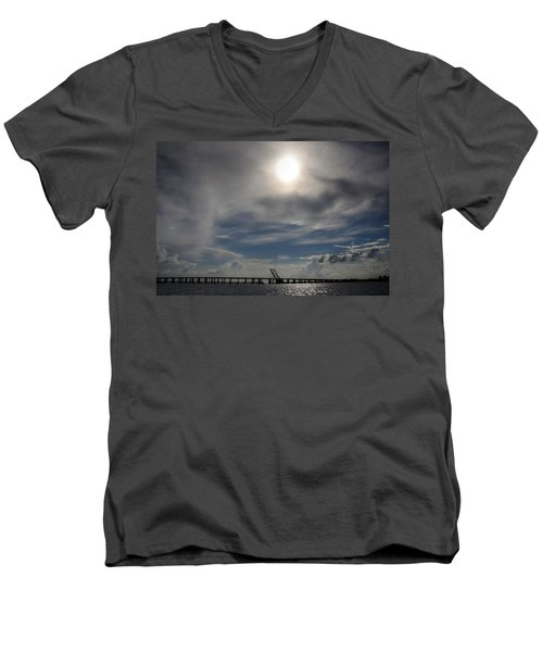 Men's V-Neck T-Shirt featuring the photograph Pass Manchac by Charlotte Schafer