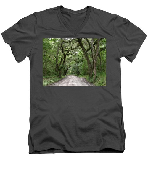 Plantation Road II Men's V-Neck T-Shirt