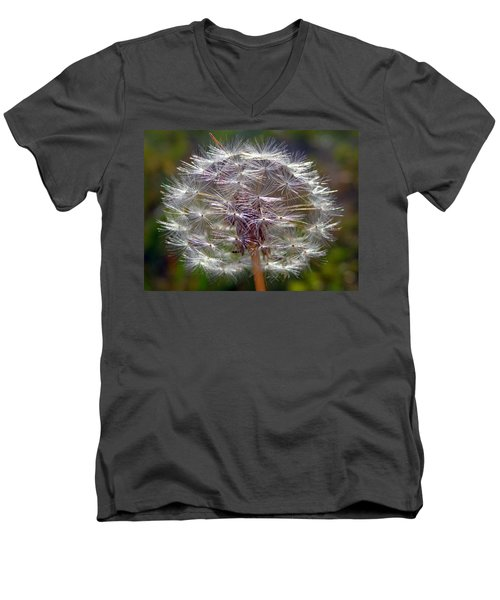Men's V-Neck T-Shirt featuring the photograph Poof by Joseph Skompski