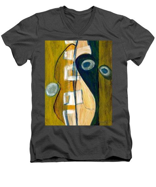 Portrait Of A Humble Man Men's V-Neck T-Shirt