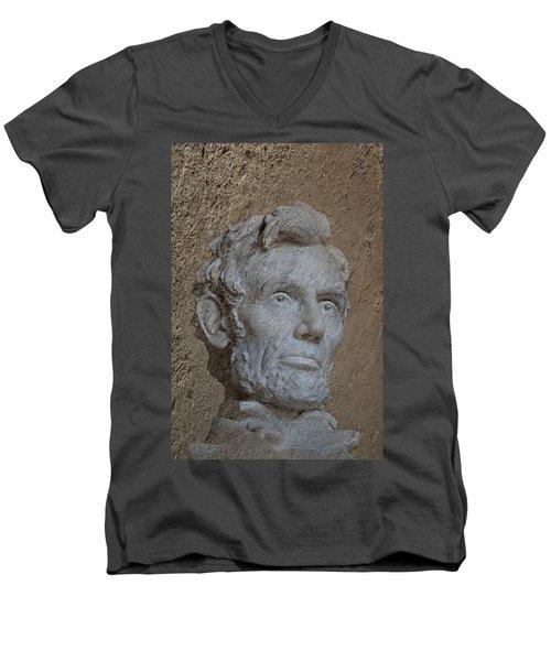 President Lincoln Men's V-Neck T-Shirt by Skip Willits