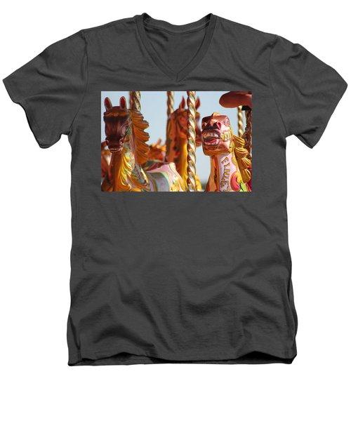 Pretty Carousel Horses Men's V-Neck T-Shirt