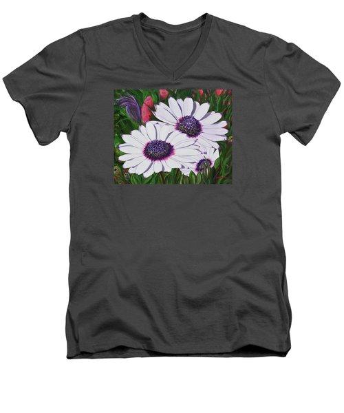 Purple Punch Men's V-Neck T-Shirt by Donna  Manaraze