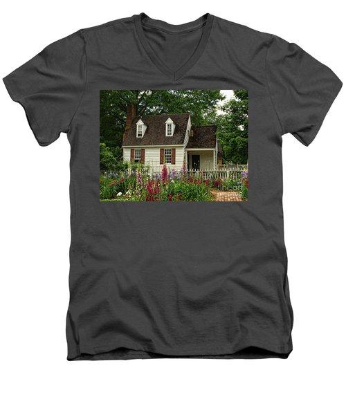 Quaint  Men's V-Neck T-Shirt by Shari Nees
