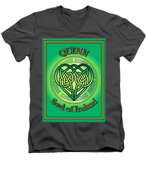 Quinn Soul Of Ireland Men's V-Neck T-Shirt