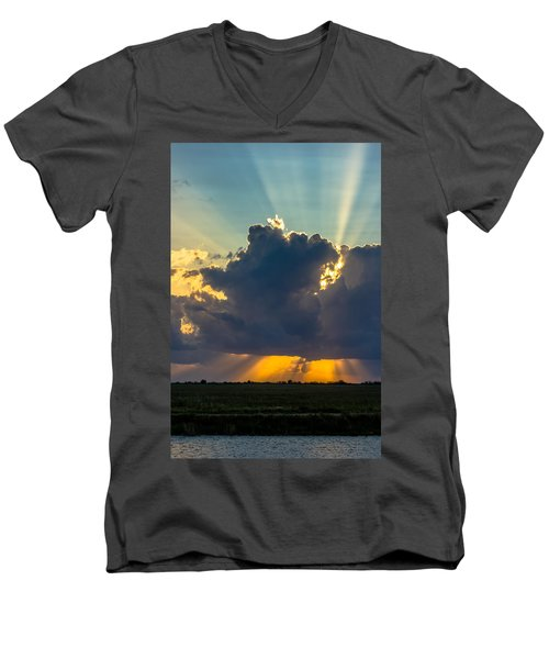 Rays From The Clouds Men's V-Neck T-Shirt