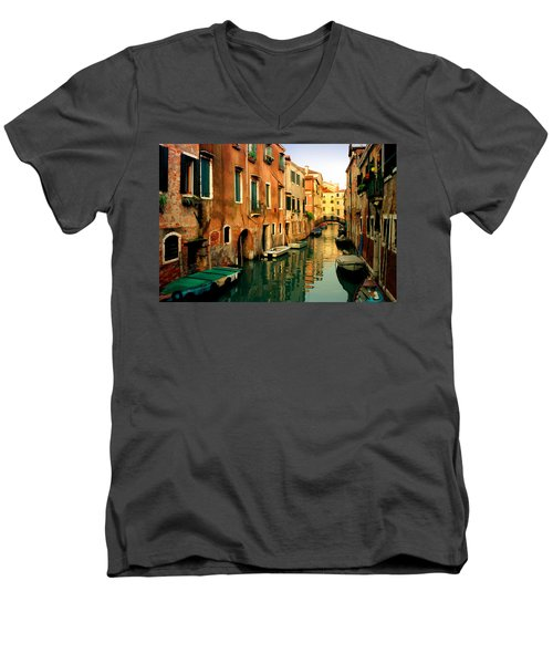 Reflections Of Venice Men's V-Neck T-Shirt