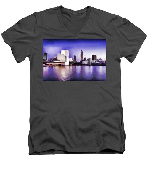 Rock And Roll Hall Of Fame - Cleveland Ohio - 3 Men's V-Neck T-Shirt