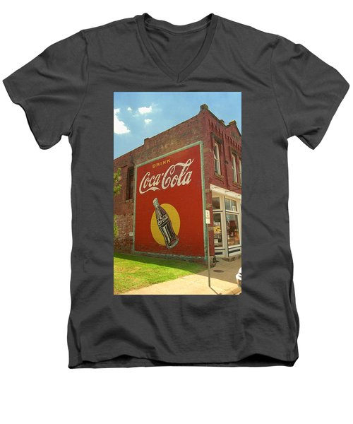 Route 66 - Coca Cola Ghost Mural Men's V-Neck T-Shirt