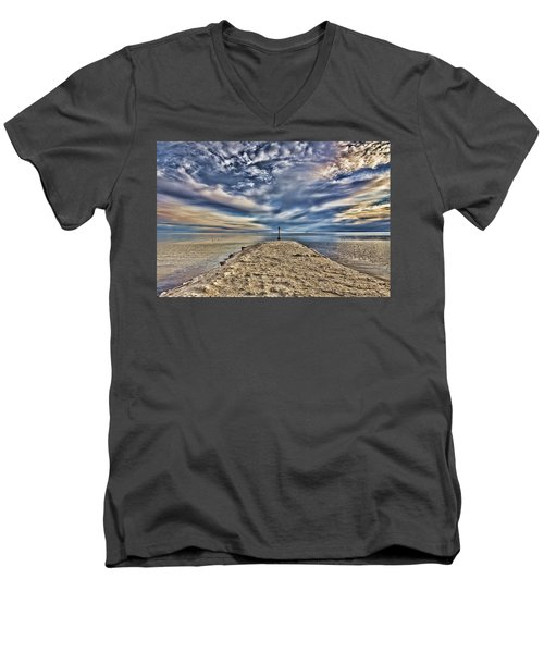 Salt Pier Salton Sea Men's V-Neck T-Shirt