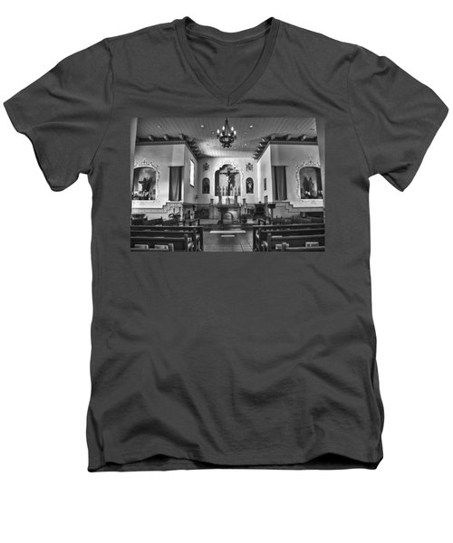 Men's V-Neck T-Shirt featuring the photograph San Carlos Cathedral by Ron White