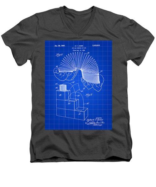 Slinky Patent 1946 - Blue Men's V-Neck T-Shirt