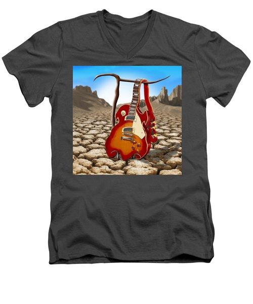 Soft Guitar II Men's V-Neck T-Shirt