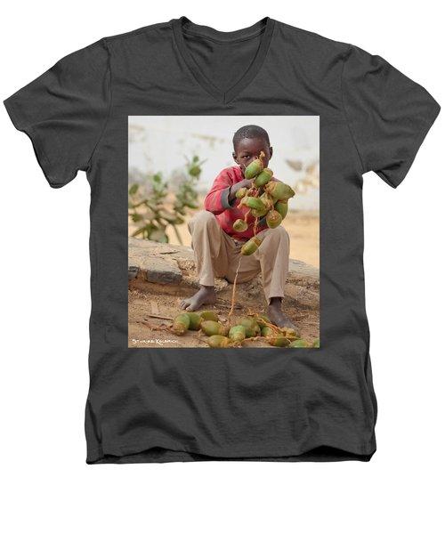 Men's V-Neck T-Shirt featuring the photograph Somewhere Else On Goree Island  by Stwayne Keubrick