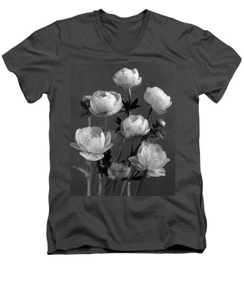 Still Life Of Flowers Men's V-Neck T-Shirt