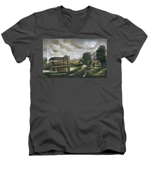 Stokesay Castle Men's V-Neck T-Shirt