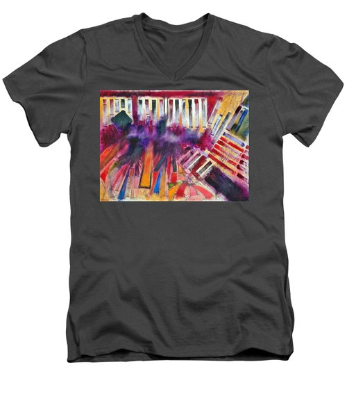 Men's V-Neck T-Shirt featuring the painting Storm Brewer by Jason Williamson