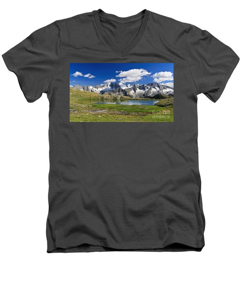 Men's V-Neck T-Shirt featuring the photograph Strino Lake - Italy by Antonio Scarpi