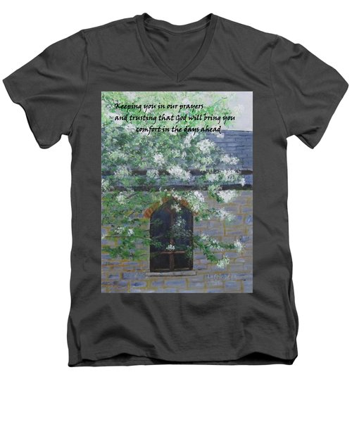 Sympathy Card With Church Men's V-Neck T-Shirt